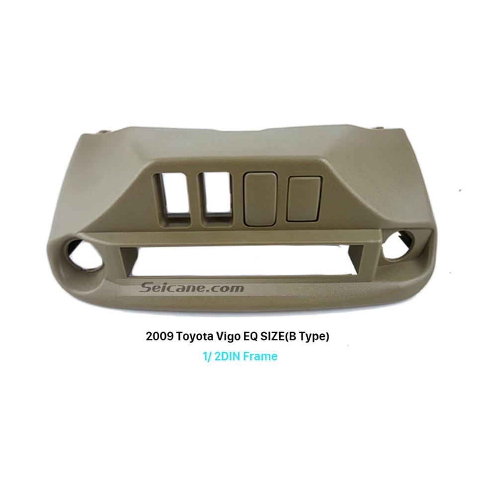 Seicane Beige One/Double Din 2009 Toyota Vigo B Type Car Radio Fascia Install Frame Dash Mount DVD Player