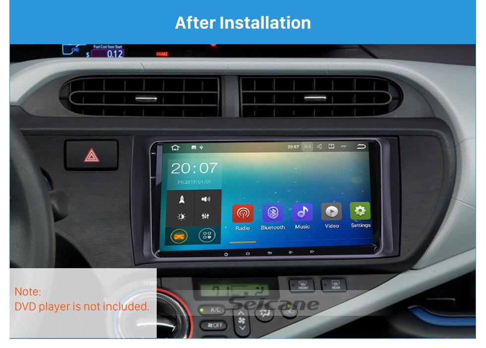 Seicane Best Double 2Din 2012 Toyota Aqua Prius C RHD Car Radio Fascia Audio Player Dash Kit Trim Install Frame