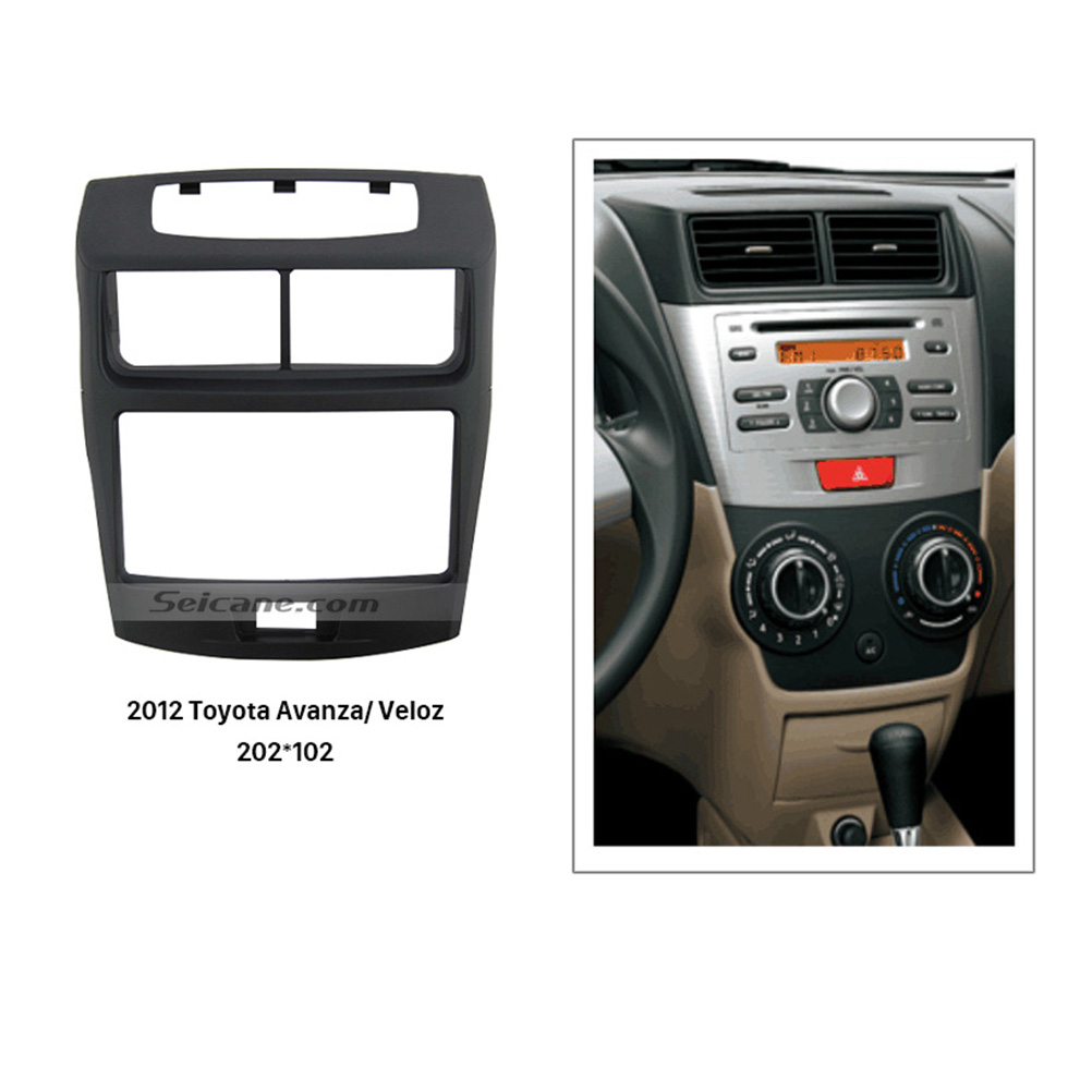 Seicane 202*102mm Double Din 2012 Toyota Avanza Veloz Car Radio Fascia Installation Kit Surround Panel Face Plate