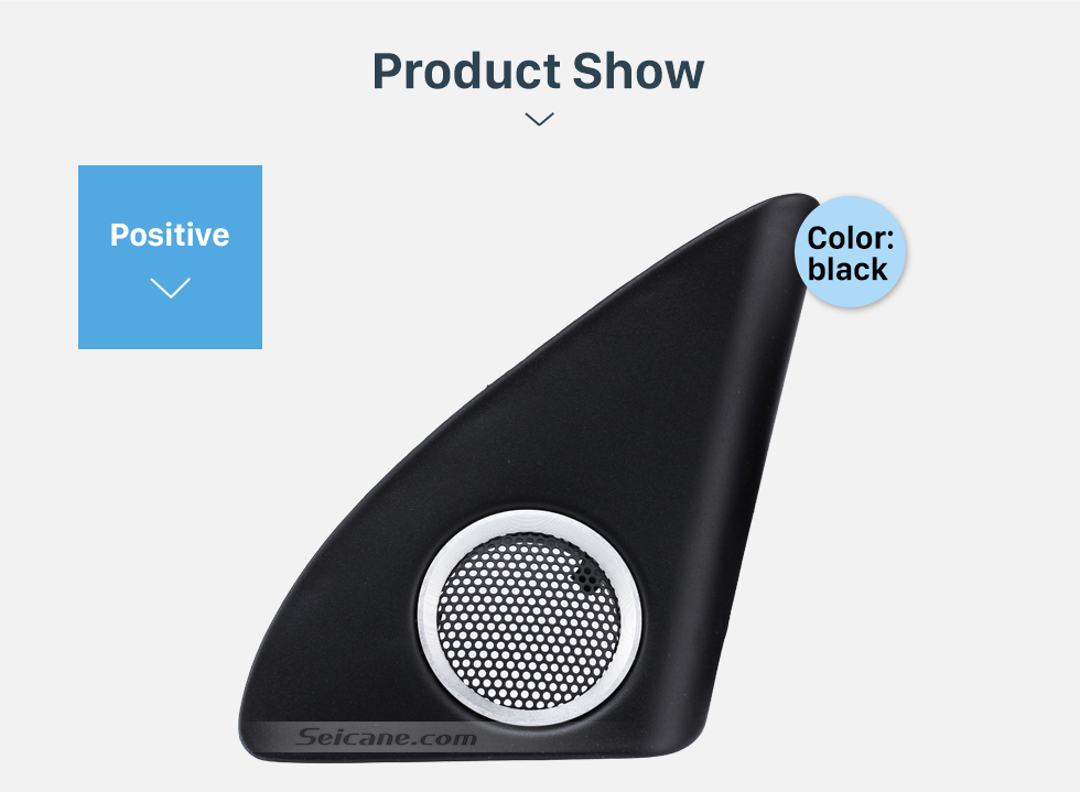 Product Show 2011 Audi Q5 Car Triangle Plastic Audio Speaker Tweeter Refitting  Upgrade Install Adaptor 2PCs