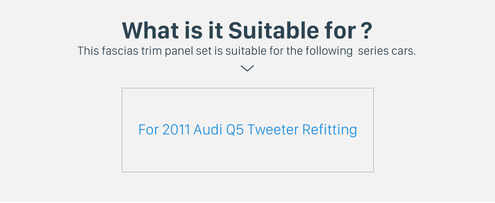 What is it Suitable for? 2011 Audi Q5 Car Triangle Plastic Audio Speaker Tweeter Refitting  Upgrade Install Adaptor 2PCs