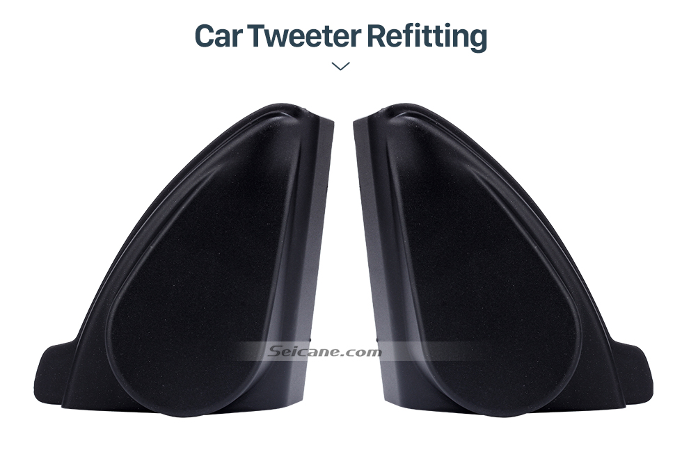 Seicane Car Horn Refit Stereo Installation Tweeter Refitting Boxes for 2009 2010 2011 Chevrolet Cruze Audio Door Angle Gums Speaker Mat 2pcs