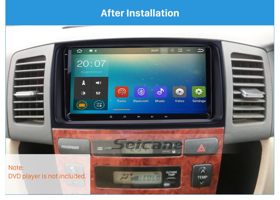 Seicane 202*102mm Double Din Toyota Spasio Car Radio Fascia Stereo Dash CD Frame Panel Trim Installation