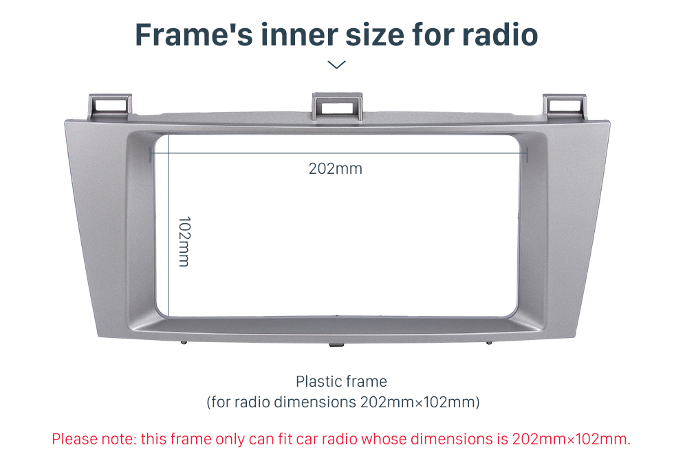 Seicane Silver 2 Din Car Radio Fascia for 2007 Toyota Solara Dash Mount Kit Stereo Install Fitting Frame