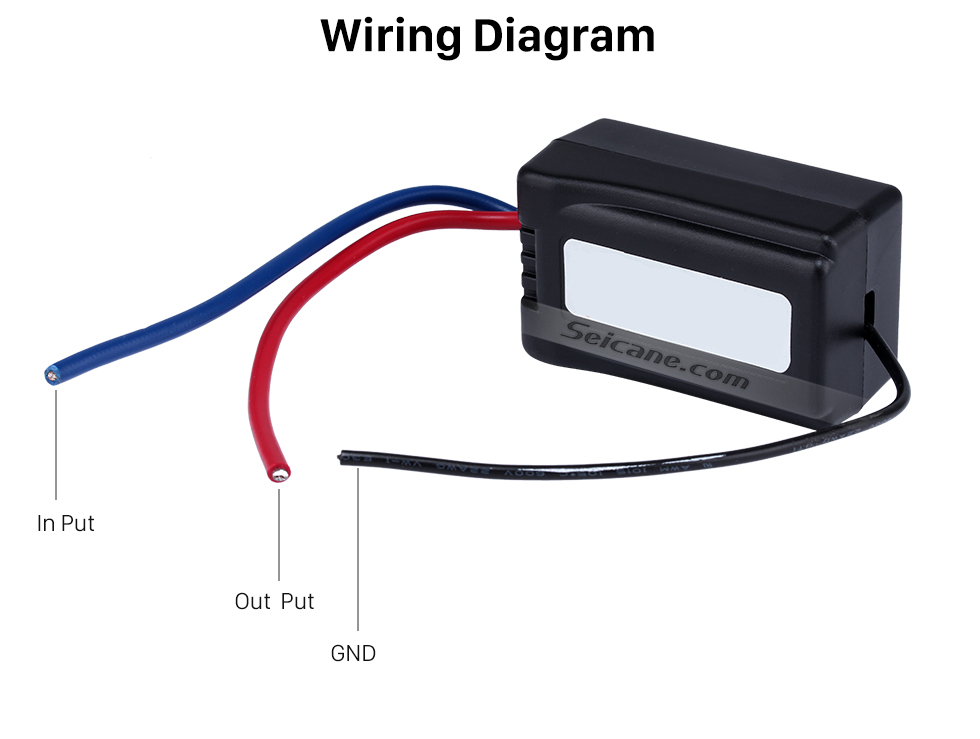 Wiring Diagram High-quality Car Power Supply Audio Adapter Noise Interference Box Power Filter