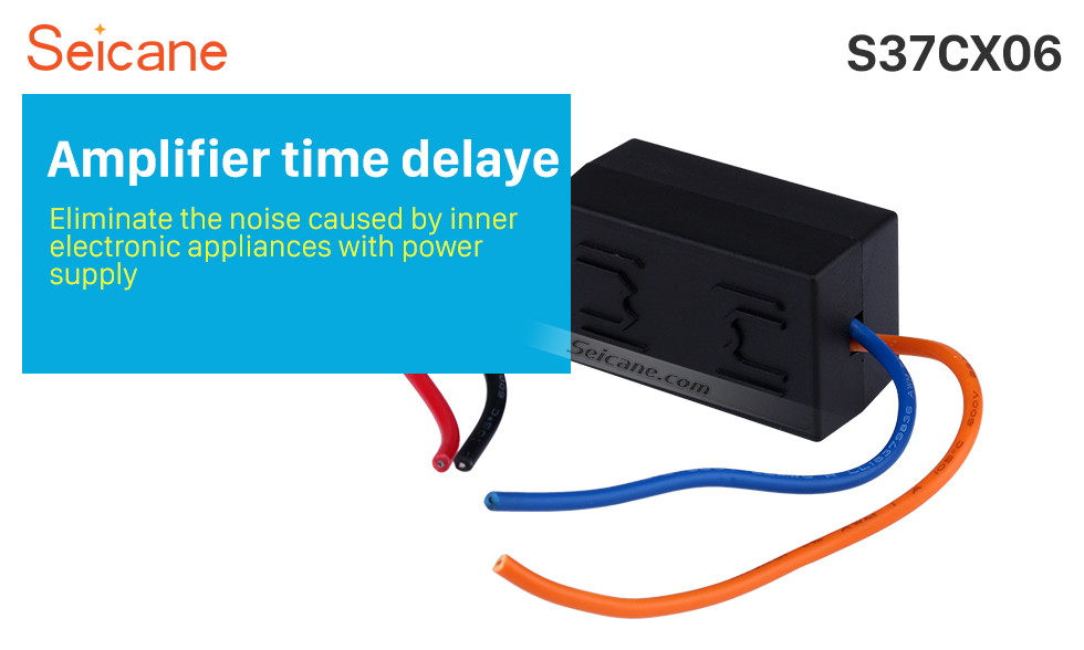 Seicane Car Wire Harness Audio Power Amplifier Time Delayer Starter Adapter
