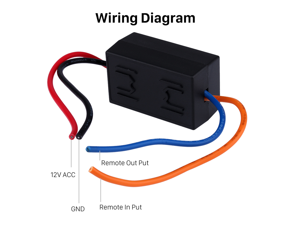 Wiring Diagram Car Wire Harness Audio Power Amplifier Time Delayer Starter Adapter