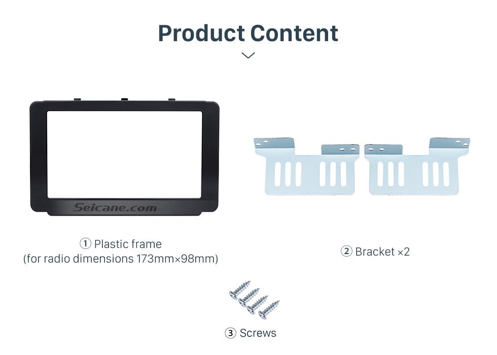 Seicane 173*98mm Double Din 2015 Toyota Revo Hilux Car Radio Fascia DVD Frame Dash Mount Audio Fitting Adaptor
