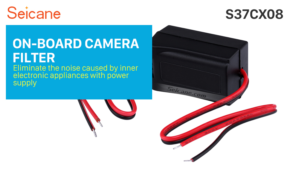 Seicane Vehicle Rearview Reverse Video Cables ON-BOARD CAMERA FILTER Adapter Capacitor