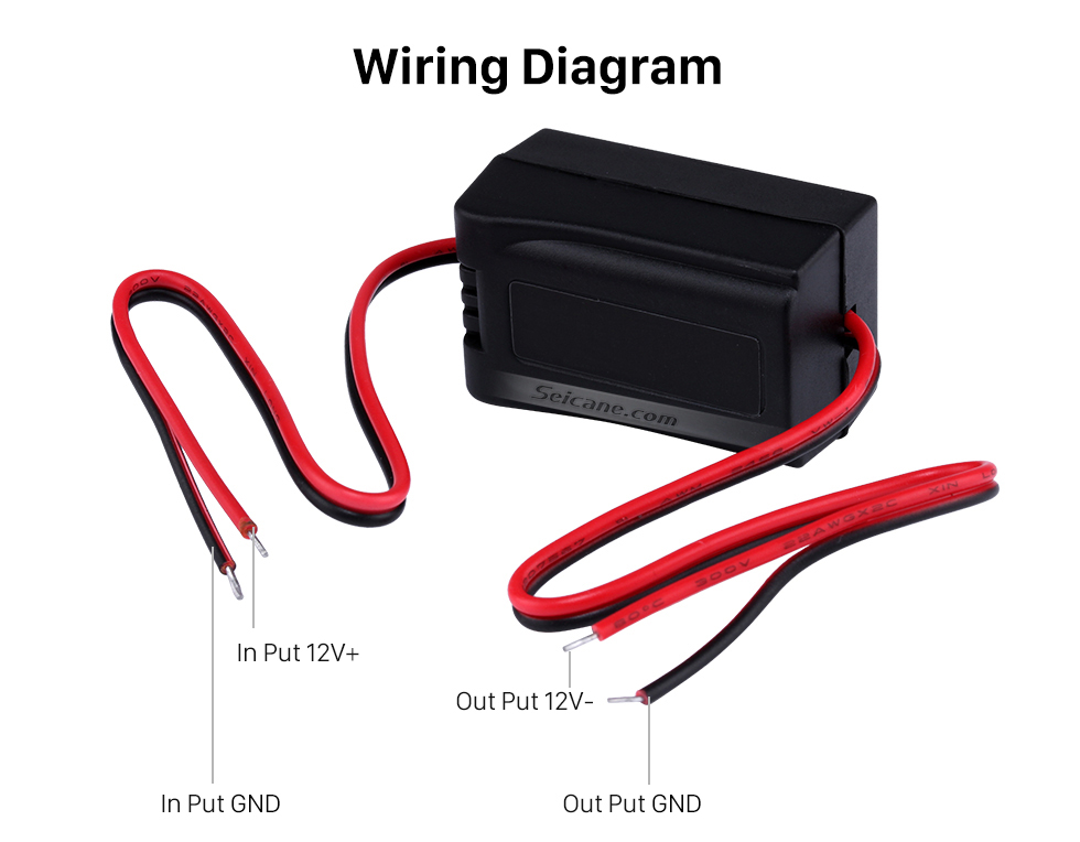 Wiring Diagram Vehicle Rearview Reverse Video Cables ON-BOARD CAMERA FILTER Adapter Capacitor