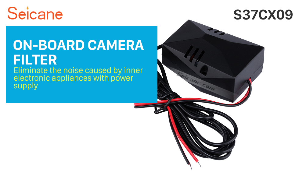 Seicane Car Backup Rearview Video Power Wire Harness Adapter ON-BOARD CAMERA FILTER Capacitor