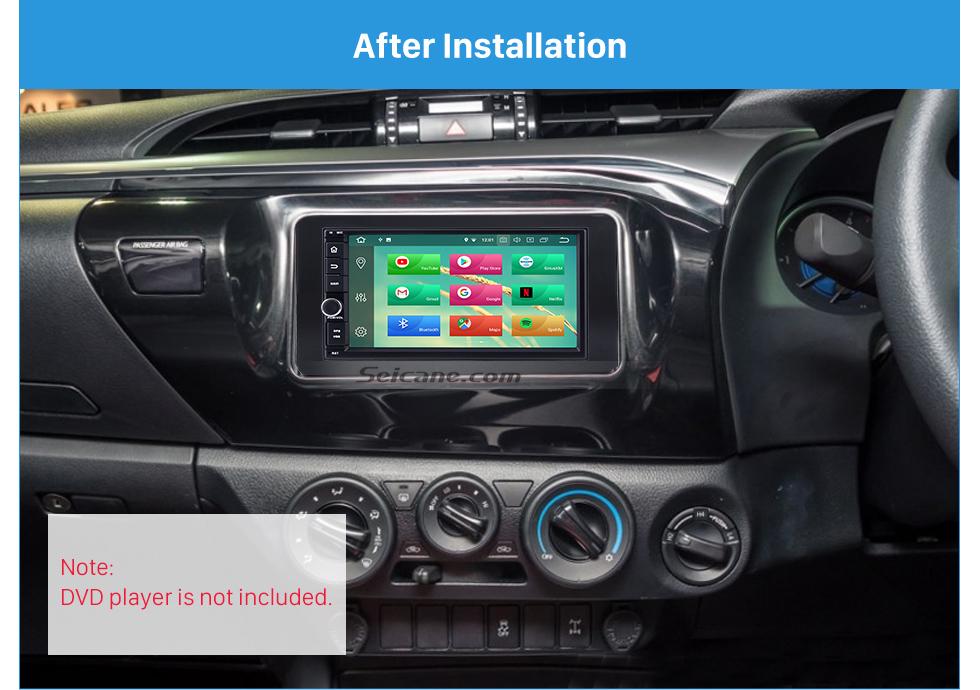 Seicane 178 * 100 mm 2Din 2015 Toyota Hilux Revo radio de coche de la faja de audio estéreo DVD reproductor de CD del marco del ajuste