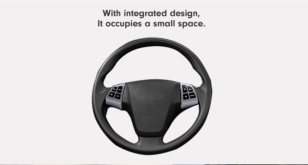 With integrated design It occupies a small space Music Player Volume Bluetooth Phone Remote Button Studying Steering Wheel Audio Controller for TOYOTA AVANZA