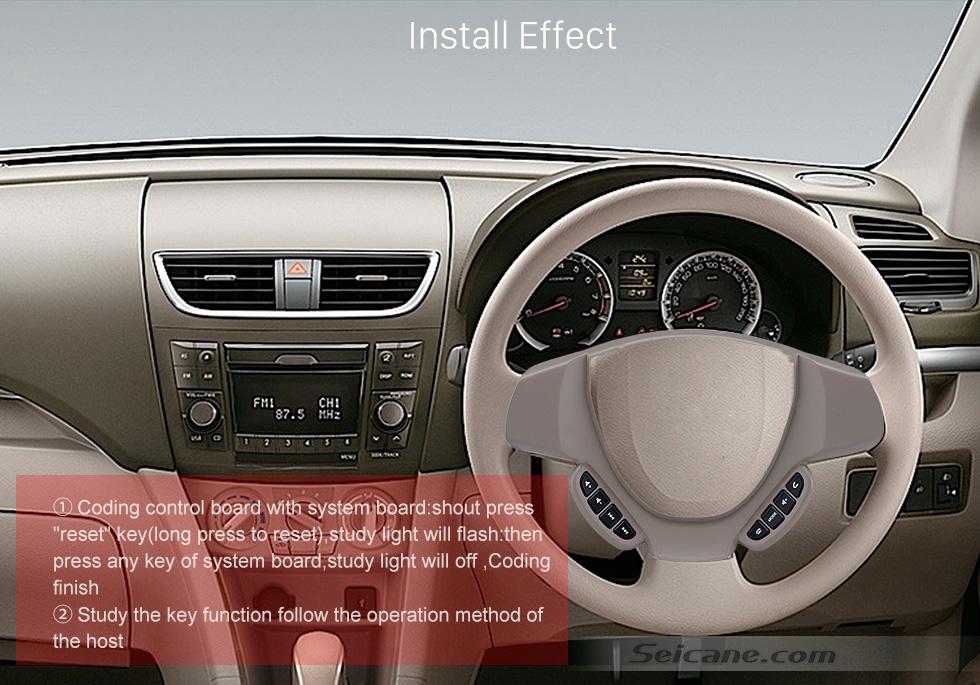 Install Effect Studying Steering Wheel Audio Controller Volume Music Bluetooth Phone Remote Button for SUZUKI ERTIGA