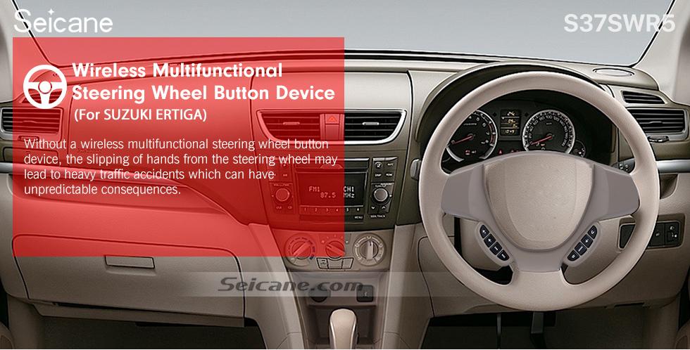 Seicane Studying Steering Wheel Audio Controller Volume Music Bluetooth Phone Remote Button for SUZUKI ERTIGA