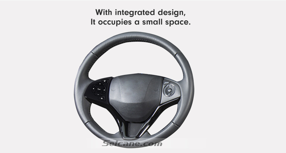 With integrated designm It occupies a small space High Quality Studying Steering Wheel Audio Controller Regulator Volume Music Player Bluetooth Phone Remote Button for HONDA HRV CITY