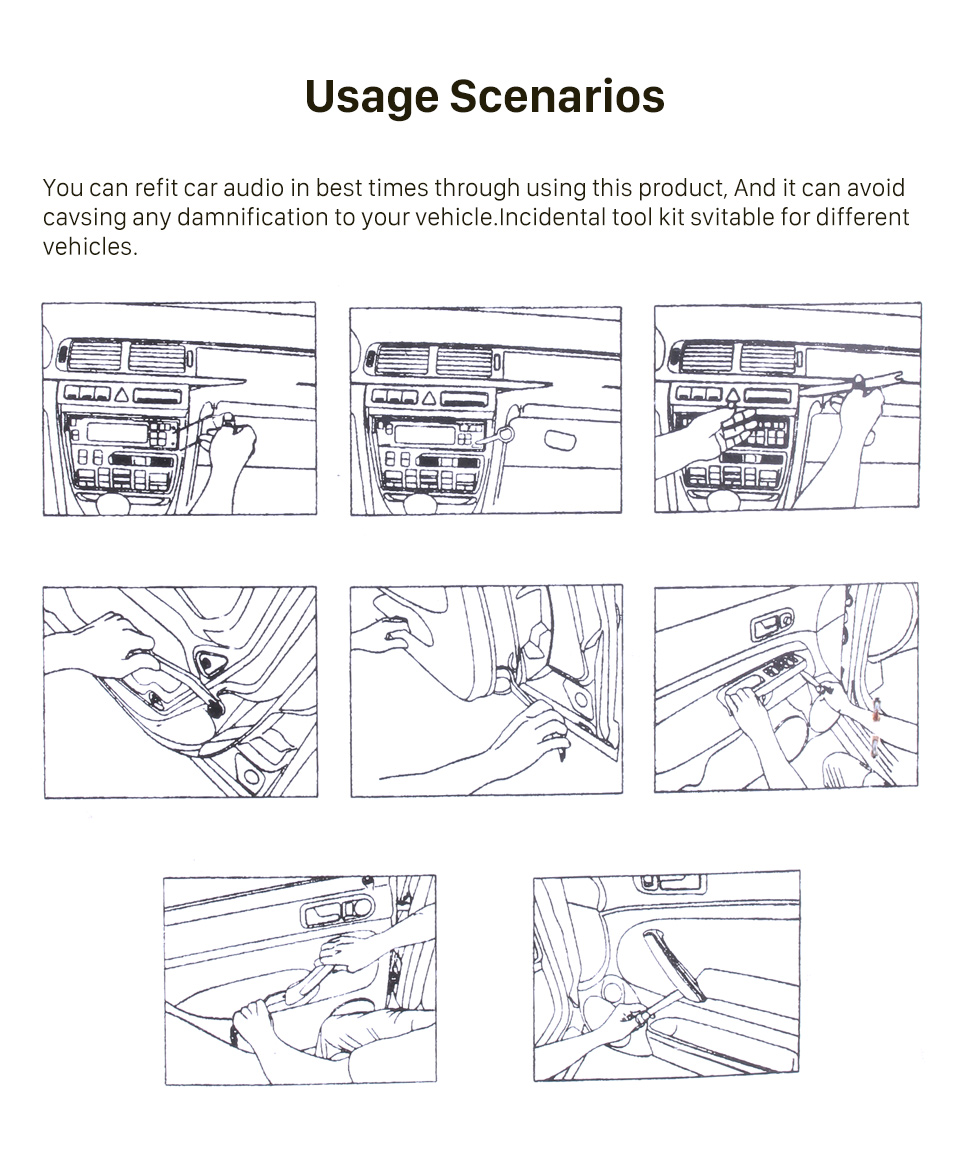 Seicane Car Audio Radio DVD Removal and Installing Device Disassembly Tools
