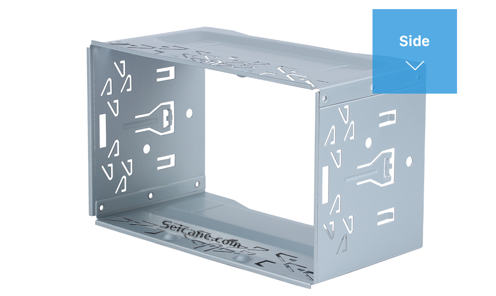 Seicane Hardware Car Stereo Radio Fascia Panel for Universal Car Radio DVD Player 2 Din Frame Install Dash Bezel Trim Kit No gap