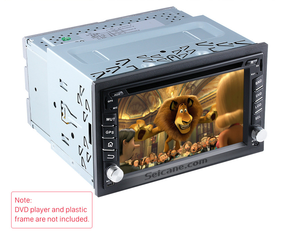Seicane Double Din Radio Metal Frame Fascia Dash Panel for Universal DVD Player Car Radio Stereo Installation Mount Trim kit