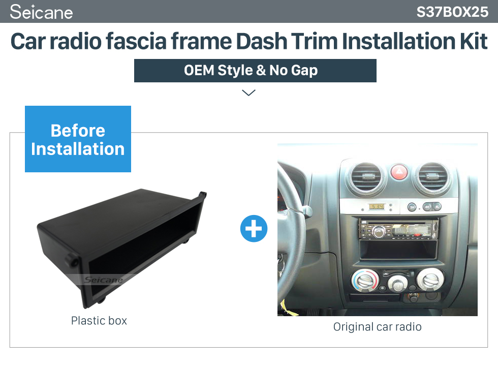 Seicane Multi-purpose Storage Black Plactic Free Box Car Kit for 2006-2011 ISUZU D MAX