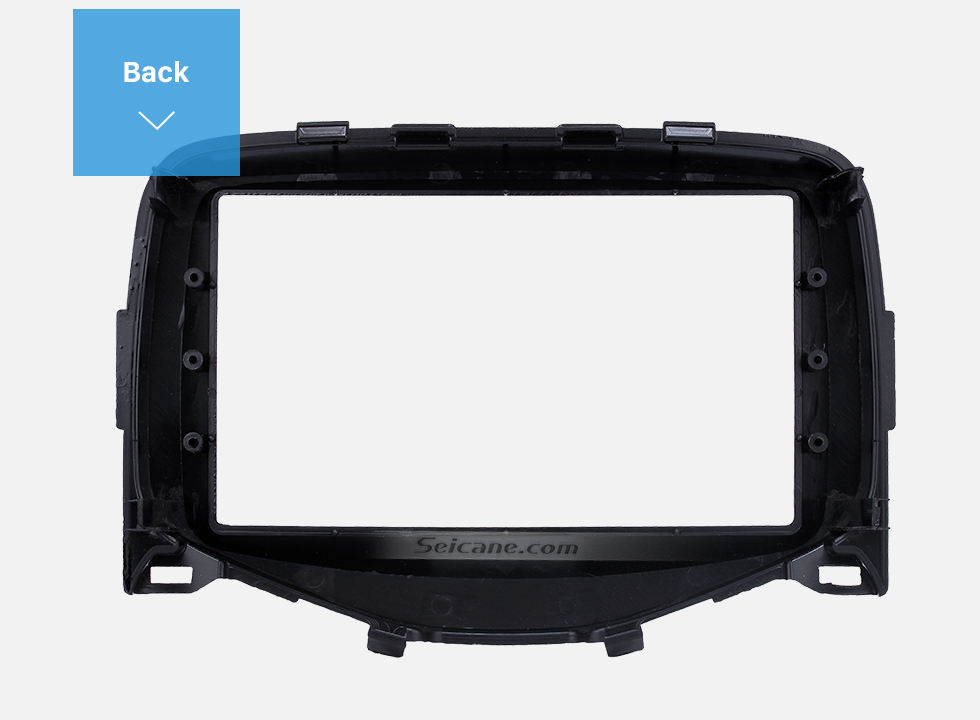 Seicane Black Double Din 2014 2015 Toyota Aygo Car Radio Fascia Panel Adaptor Audio Frame Stereo Install