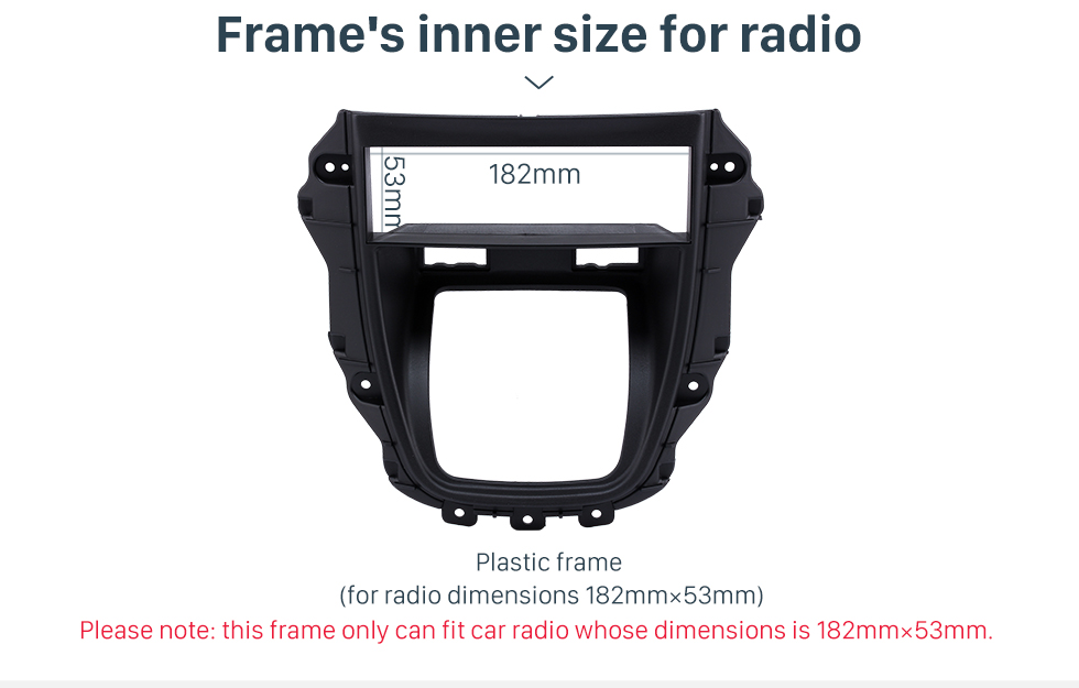 Frame's inner size for radio Newest One Din 1997-2003 Lexus RX-300 Harrier Car Radio Fascia Stereo Interface CD Trim Panel Dash Trim Kits