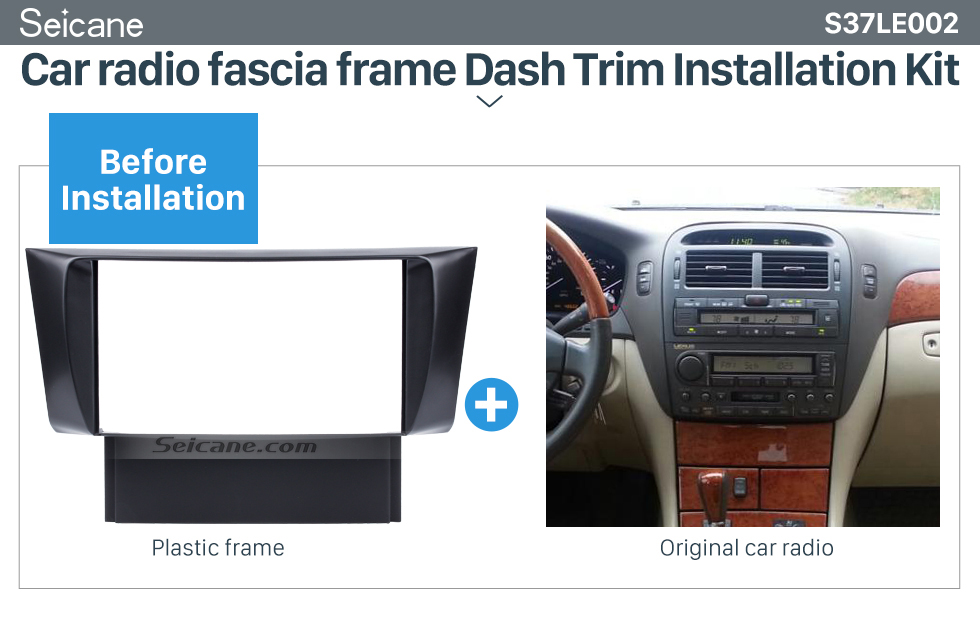 Seicane Well Design Double Din 2001-2006 Lexus LS430 Car Radio Fascia Auto Trim Car Dash Audio Installation Frame Dashboard Panel