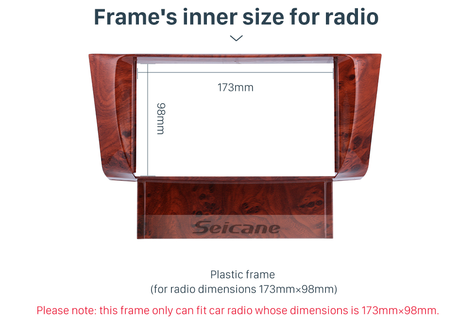 Seicane Fantastic Double Din 2001 2002 2003 2004 2005 2006 Lexus LS430 Car Radio Fascia DVD Panel Dash Kit Fitting Frame