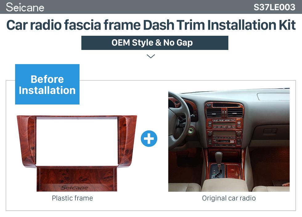 Seicane Fantastique Double Din 2001 2002 2003 2004 2005 2006 Lexus LS430 Car Radio Fascia Panneau DVD Kit de Dash cadre de montage