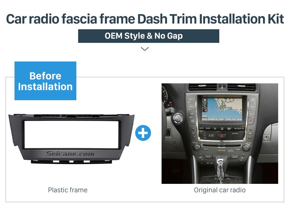 Car radio fascia frame Dash Trim Installation Kit Top Quality 1 Din 2006 Lexus IS300 Car Radio Fascia Dash CD Trim Installation Kit Panel Adaptor DVD Frame