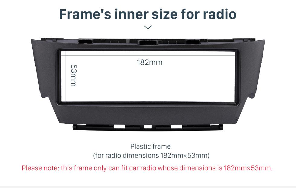 Frame's inner size for radio Top Quality 1 Din 2006 Lexus IS300 Car Radio Fascia Dash CD Trim Installation Kit Panel Adaptor DVD Frame