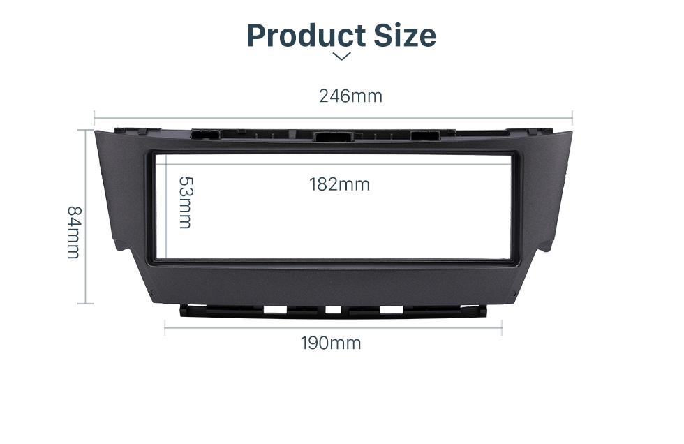 Product Size Top Quality 1 Din 2006 Lexus IS300 Car Radio Fascia Dash CD Trim Installation Kit Panel Adaptor DVD Frame