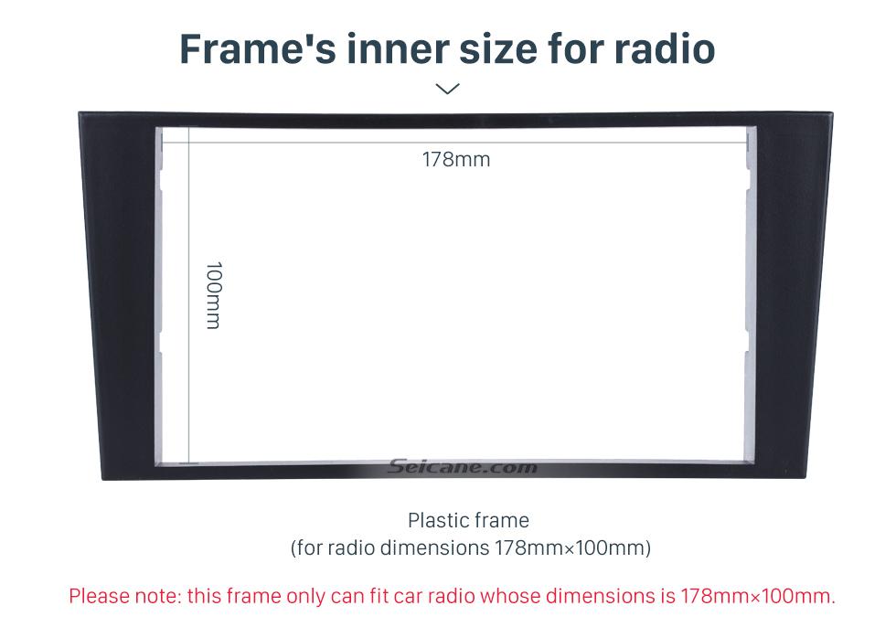 Seicane Fabulous 2Din 1996 Lexus LS400 Car Radio Fascia Audio Fitting Adaptor Panel Plate Frame Trim Bezel