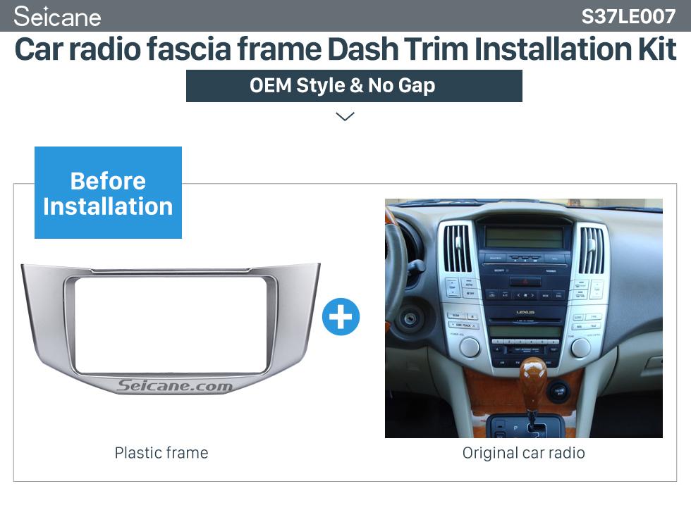 Car radio fascia frame Dash Trim Installation Kit Great Quality 2Din 2008 Lexus RX330 RX350 Toyota Harrier Car Radio Fascia DVD Frame Auto Stereo Panel Adaptor