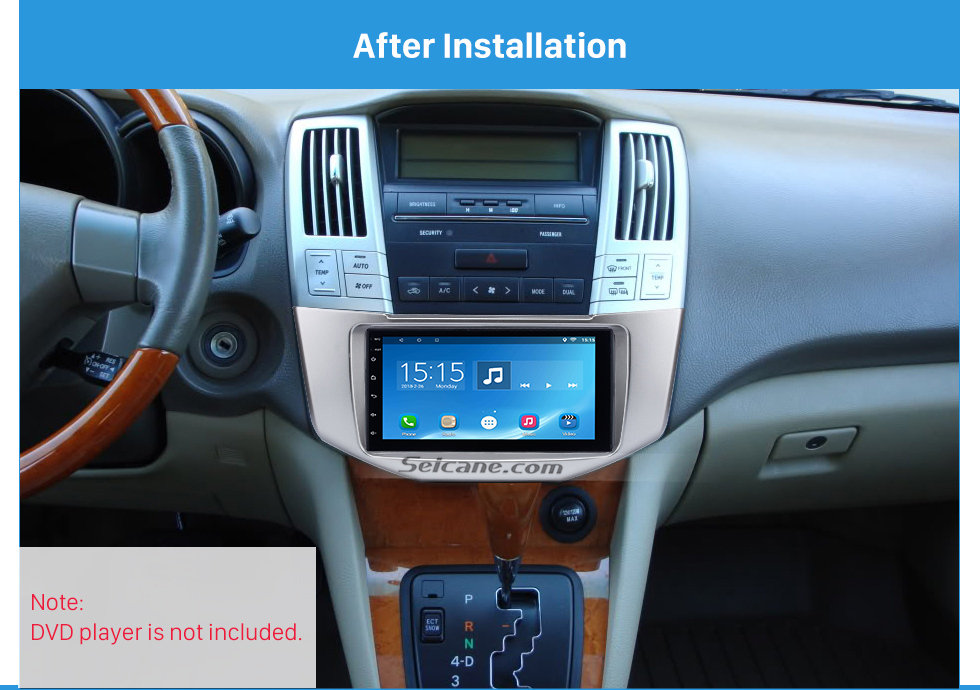 After Installation Great Quality 2Din 2008 Lexus RX330 RX350 Toyota Harrier Car Radio Fascia DVD Frame Auto Stereo Panel Adaptor