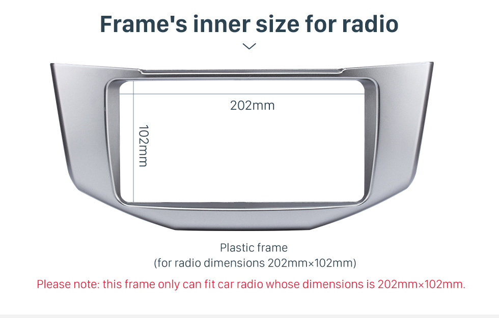 Frame's inner size for radio Great Quality 2Din 2008 Lexus RX330 RX350 Toyota Harrier Car Radio Fascia DVD Frame Auto Stereo Panel Adaptor
