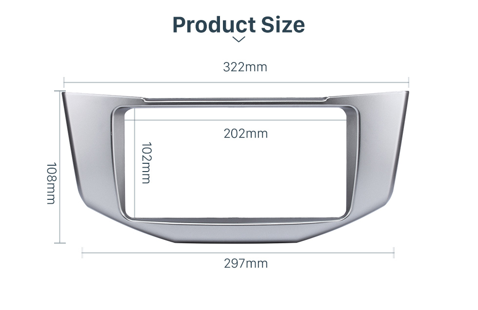 Product Size Great Quality 2Din 2008 Lexus RX330 RX350 Toyota Harrier Car Radio Fascia DVD Frame Auto Stereo Panel Adaptor