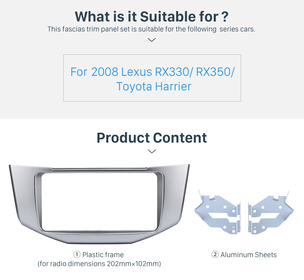 What is it Suitable for? Great Quality 2Din 2008 Lexus RX330 RX350 Toyota Harrier Car Radio Fascia DVD Frame Auto Stereo Panel Adaptor