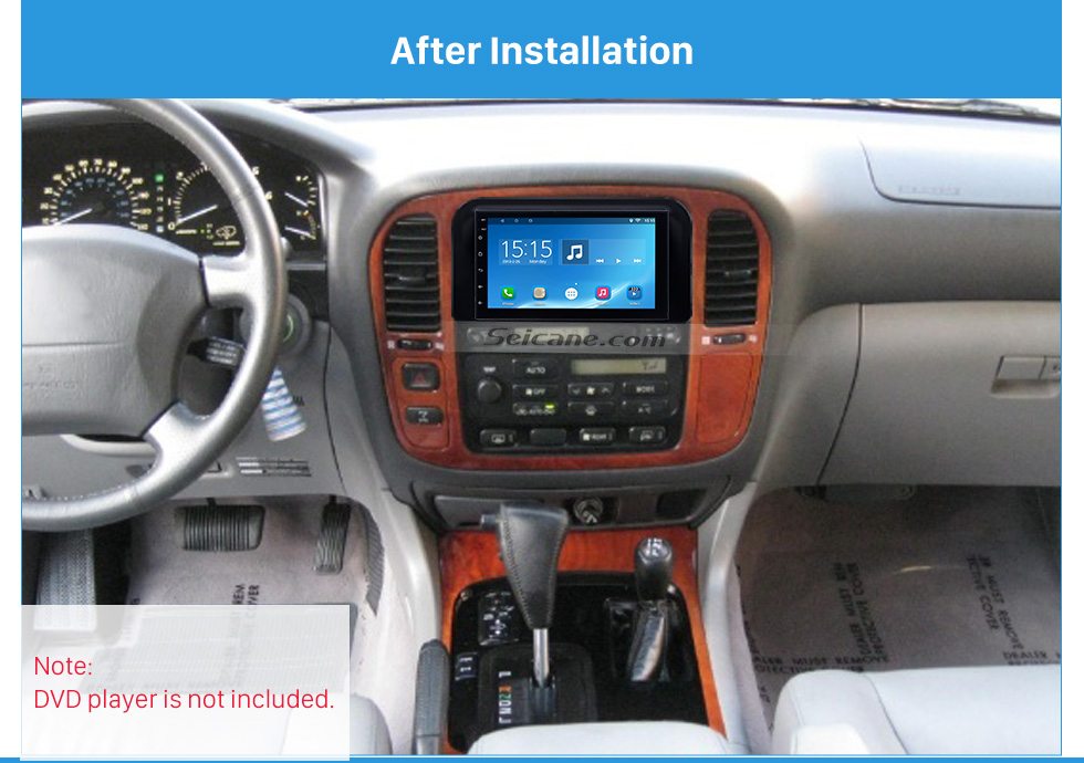 After Installation Incredible 2Din 1998 1999 2000 2001 2002 Lexus 4700 Car Radio Fascia Trim Dash CD Installation Kit Auto Stereo Audio Frame