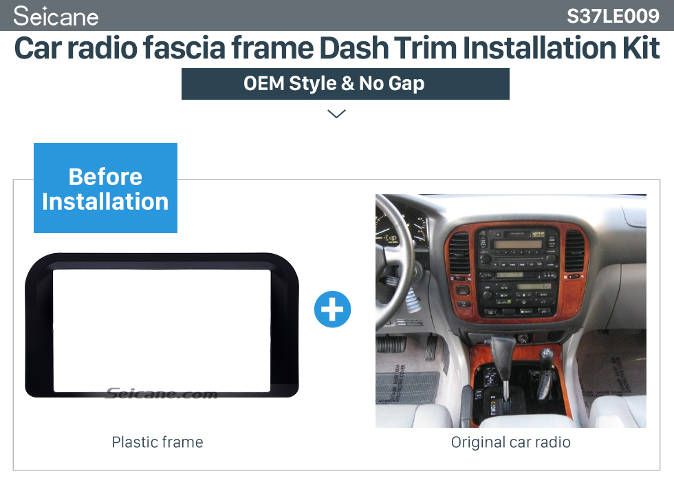 Car radio fascia frame Dash Trim Installation Kit Incredible 2Din 1998 1999 2000 2001 2002 Lexus 4700 Car Radio Fascia Trim Dash CD Installation Kit Auto Stereo Audio Frame