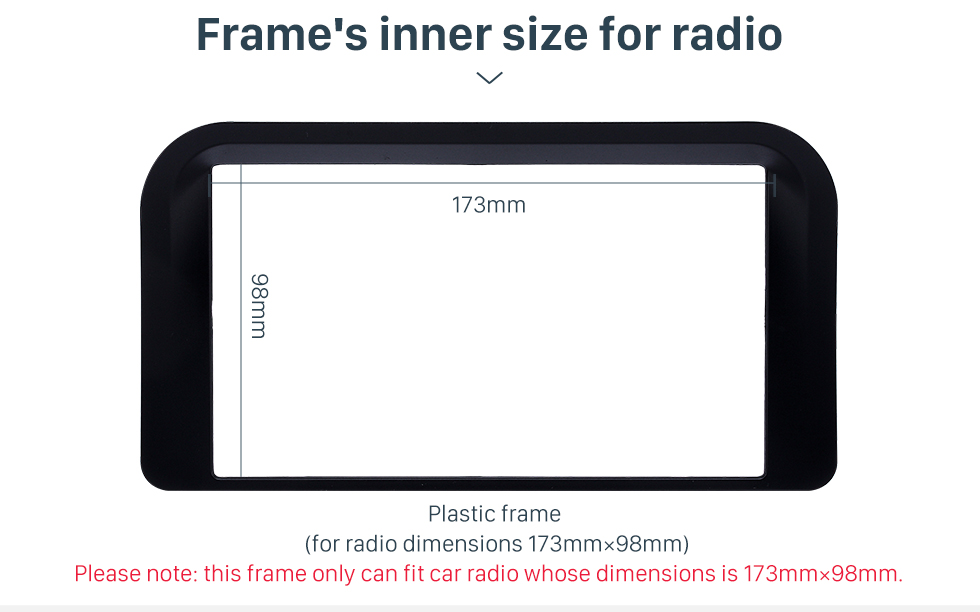 Frame's inner size for radio Incredible 2Din 1998 1999 2000 2001 2002 Lexus 4700 Car Radio Fascia Trim Dash CD Installation Kit Auto Stereo Audio Frame