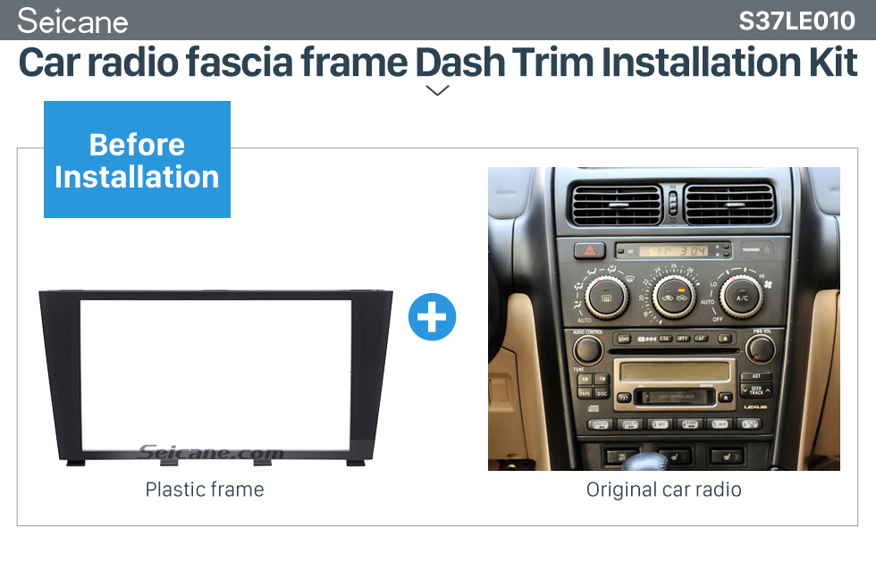 Seicane Popular 2Din 1995-2006 Lexus IS200 IS300 Toyota Altezza Car Radio Fascia Dashboard Panel Auto Stereo Plate Frame