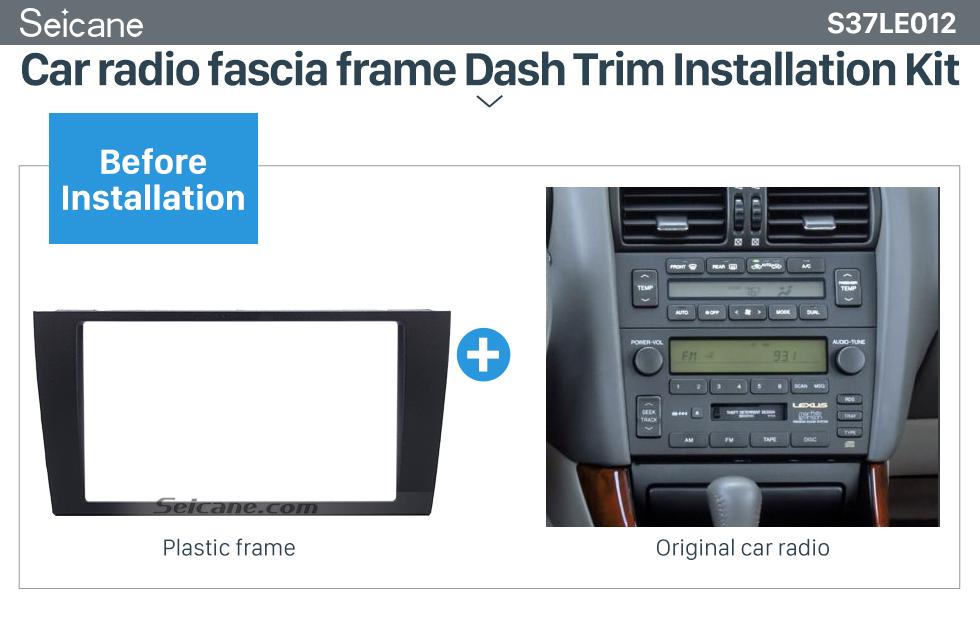 Seicane Classic 2Din 1997-2005 LEXUS GS Toyota Aristo S160 Car Radio Fascia Auto Stereo CD Fitting Frame DVD Player