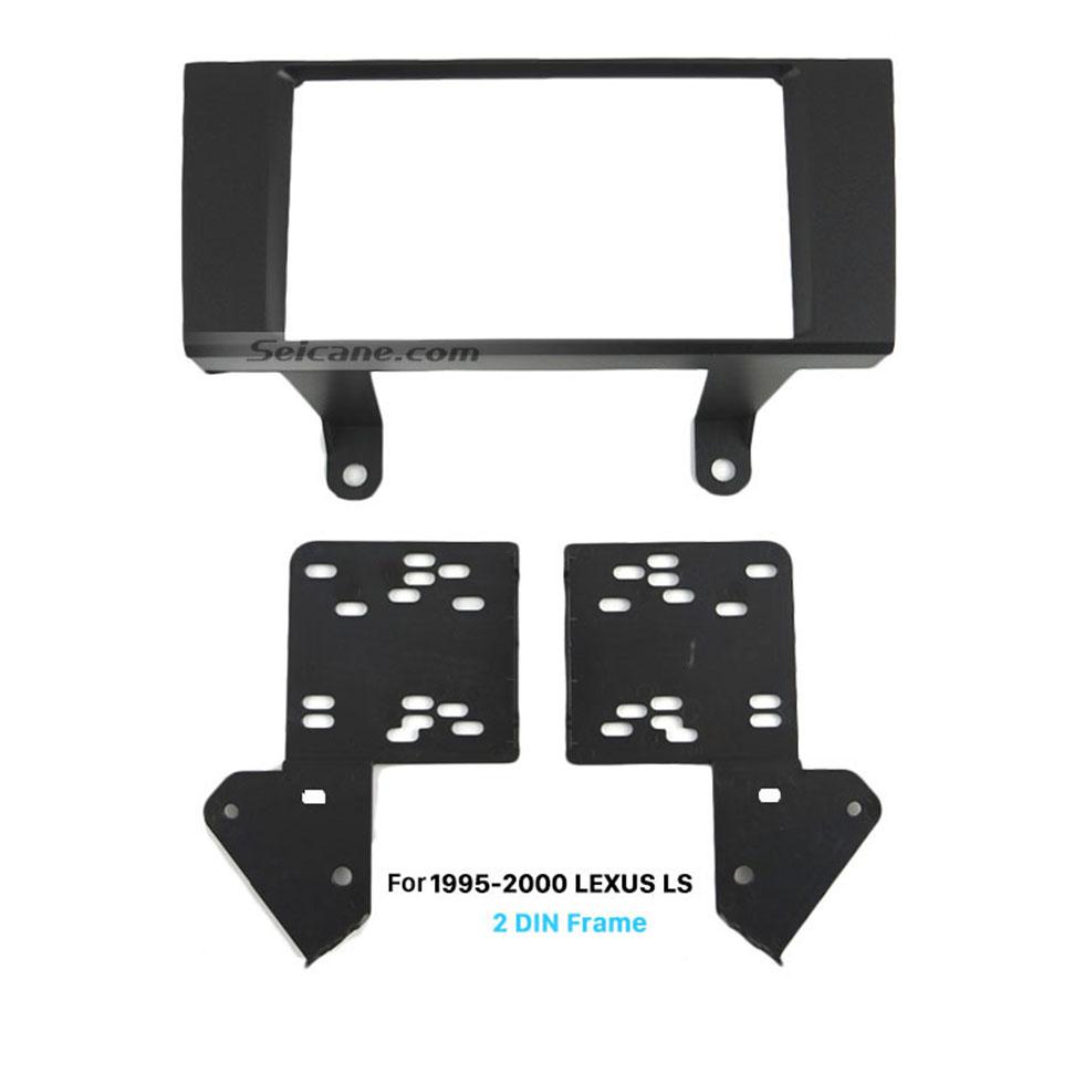 Seicane Fashionable 2Din 1995-2000 LEXUS LS Car Radio Fascia Auto Stereo Adaptor Trim Installation Kit Dashboard Panel