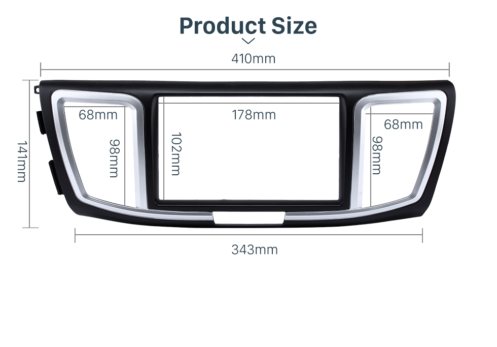 Product Size Dashboard 2 Din Car Radio Fascia for 2013 Honda Accord Auto stereo Adapter DVD Panel Dash Kit Audio frame