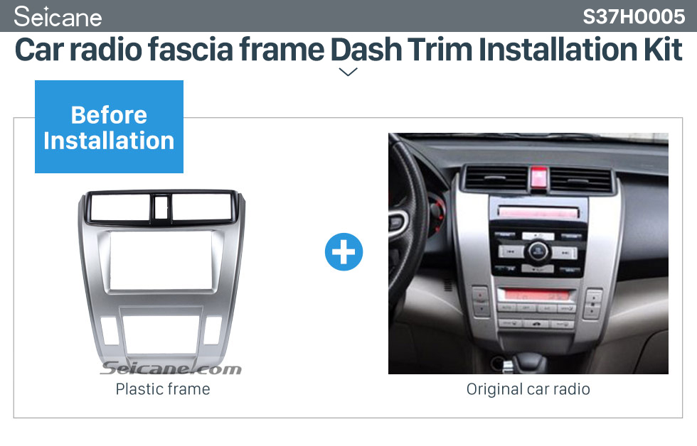 Seicane Great Quality 2Din 2008-2013 Honda City Ballade Auto AC Car Radio Fascia Frame DVD Panel Dash Kit Auto Stereo