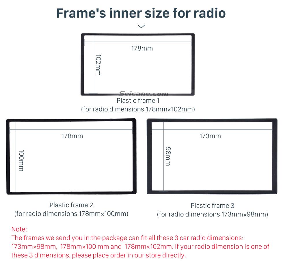 Seicane Special 2Din 2008-2011 Honda Civic LHD with SRS Hole Car Radio Fascia Installation Trim Dash Kit Radio Frame Auto Stereo