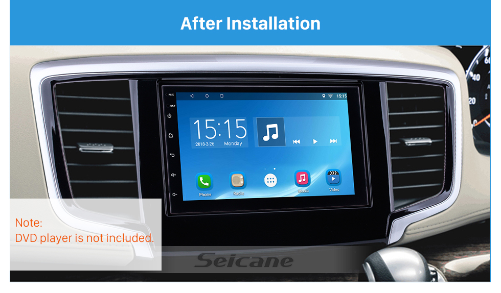 Seicane Hot sell 2Din 2014 Honda Odyssey Car Radio Fascia Dashboard Covers Trim Install Frame Auto Stereo