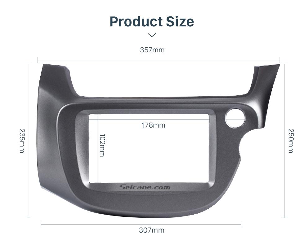 Seicane Professional Gray Double Din 2008-2013 Honda Fit RHD Car Radio Fascia Trim Bezel DVD Frame Dash Kit