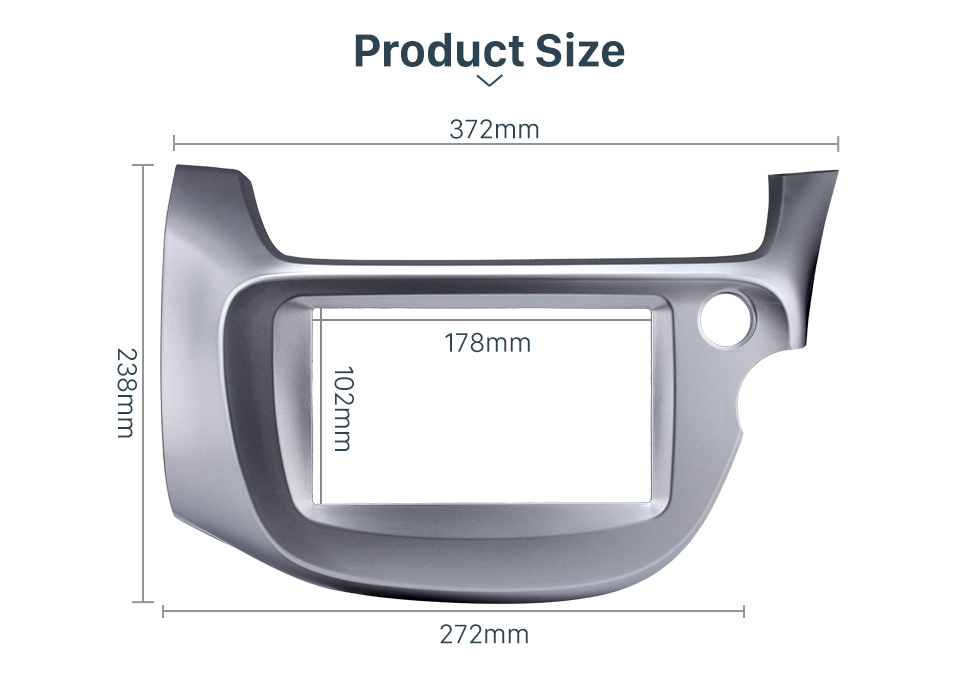 Seicane Silver 2 Din 2008 2009 2010 2011 2012 2013 Honda Fit RHD Car Radio Fascia Audio frame Stereo Interface Panel Adaptor